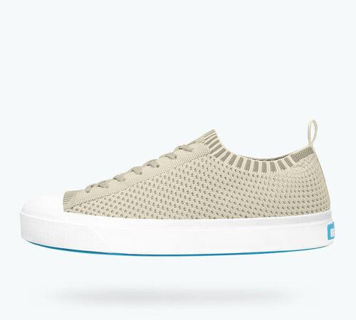 Side view of Jefferson 2.0 Liteknit Sneaker in Sky Blue / Shell White
