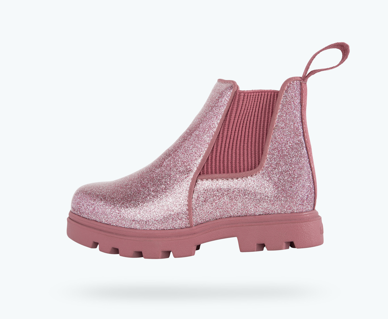 Pull On Glitter Chelsea Boot