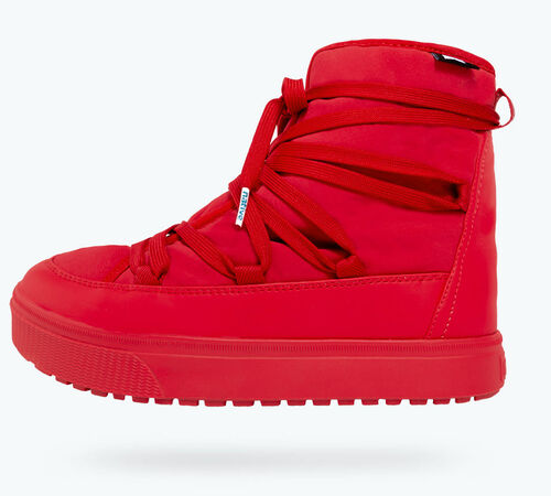 Side view of Chamonix Shearling Adults Boot in Ski Red
