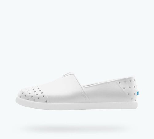 Side view of Verona Child in Shell White / Shell White