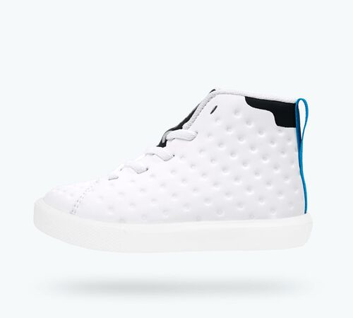Side view of Monaco Mid CT Child Shoes in Jiffy Black CT / Shell White