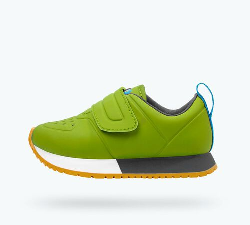 Side view of Cornell CT Child Shoes in Spring Green CT / Shell White / Dublin Grey / Gum Rubber