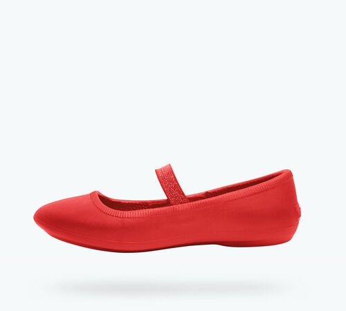 Side view of Margot Child in Torch Red