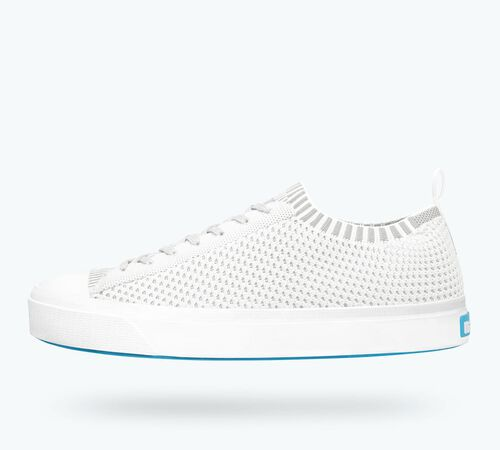 Side view of Jefferson 2.0 Liteknit Sneaker in Sky Blue / Shell White