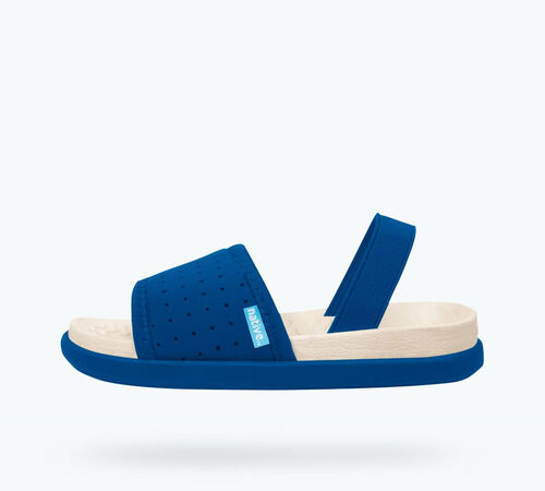 Side view of Penn Child in Victoria Blue / Bone White / Victoria Blue