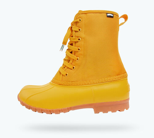 Side view of Jimmy Citylite Boots in Alpine Yellow / Gum Rubber