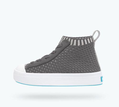 Side view of Jefferson 2.0 High Lite Child Shoes in Dublin Grey / Shell White