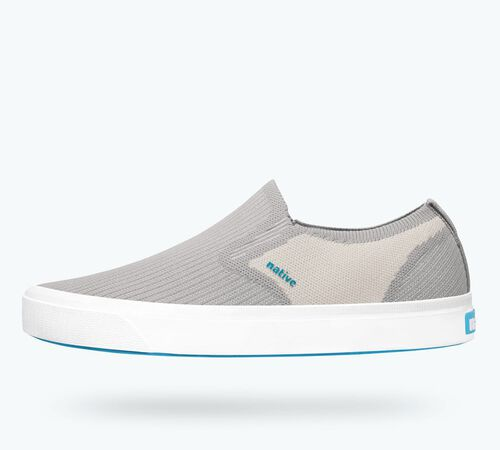 Side view of Miles 2.0 Liteknit in Pigeon Grey / Bone White / Shell White