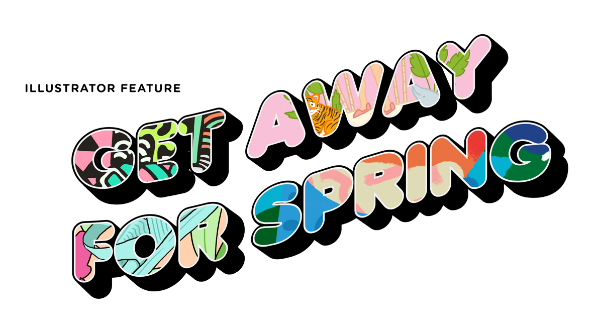 Illustrator Feature: GET AWAY FOR SPRING