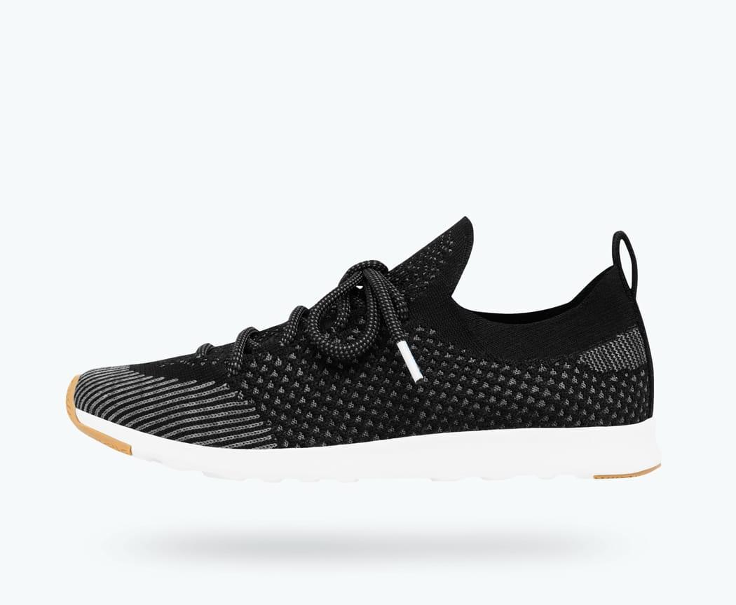 Native Shoes Unisex AP Mercury Liteknit Child Sneaker 13 Medium US Little Kid Jiffy Black//Shell White